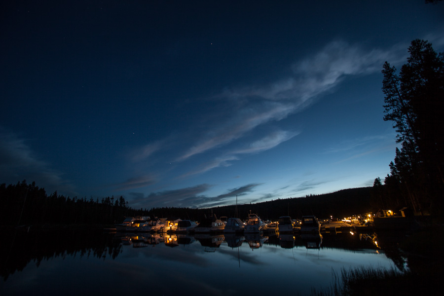 Dusk over Bridge Bay Marina.