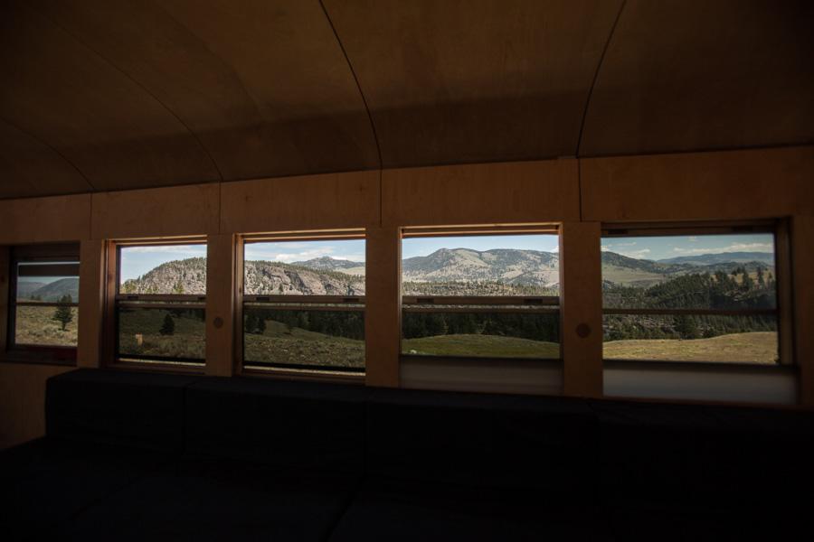 Leaving Yellowstone, heading for Bozeman.